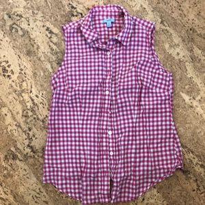 Izod red checkered sleeveless